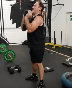 Marco im Workout
