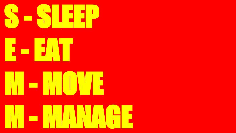 Das SEMM-Modell: Sleep/Eat/Move/Manage
